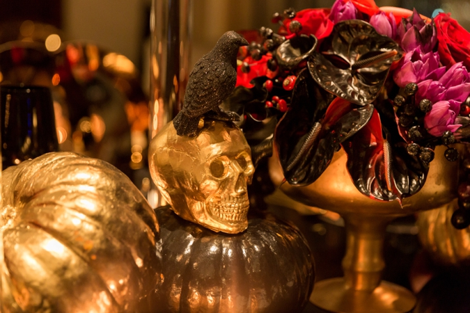 BCME - Gold Skull and Gold Pumpkins with bird - Wedding Industry Networking