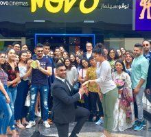 A Surprise Dubai Proposal At Novo Cinemas