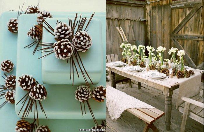 Brideclubme.com Pine wedding cone inspiration1