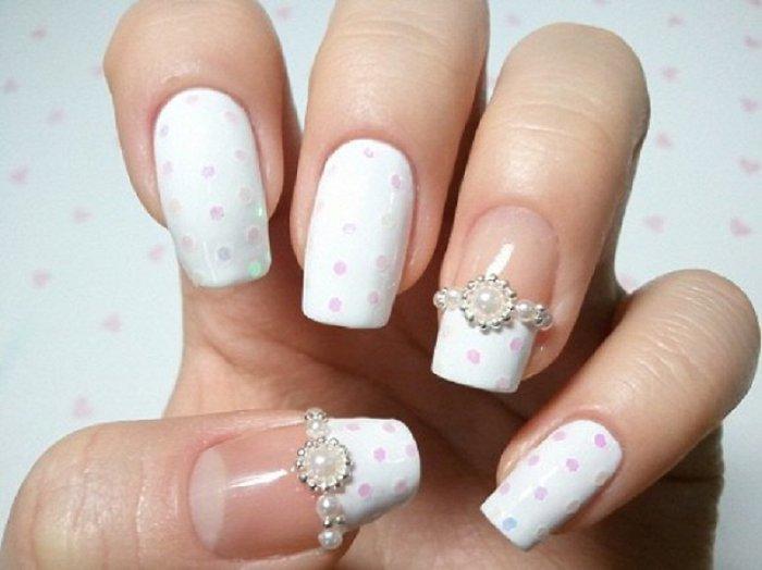 Bridal Nail Design - Brideclubme.com
