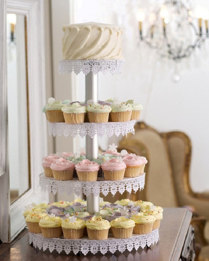 Cup Cake Tower - Bride Club ME - Magnolia Bakery Dubai