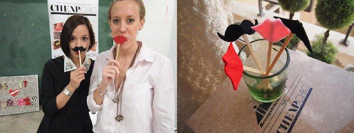 DIY Moustache and Lips wedding Props - Brideclubme.com