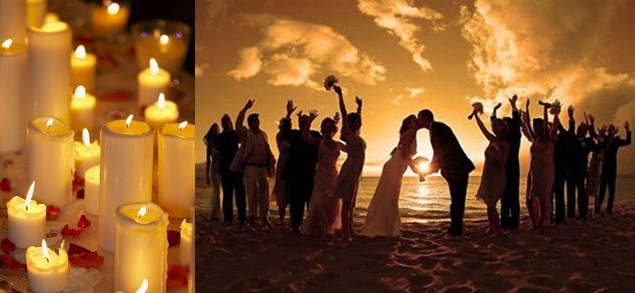 Valentines wedding ceremony
