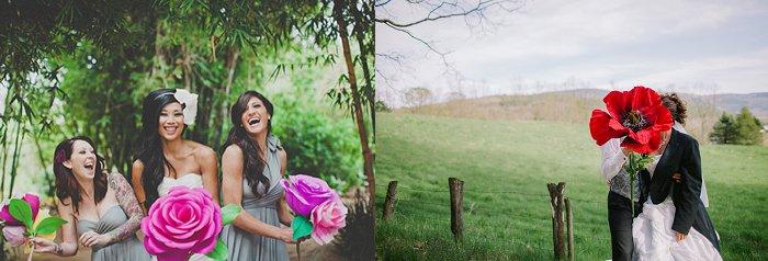DIY Giant wedding flower