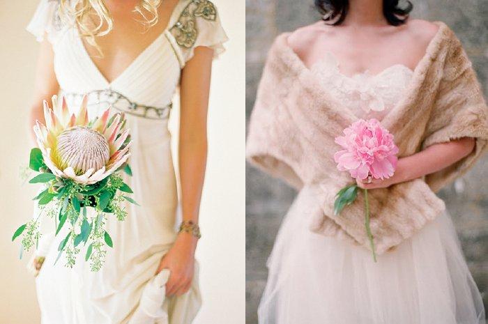Single stem wedding bouquets