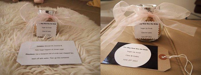 DIY Face Scrub wedding favors