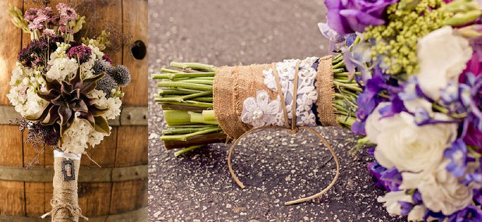 Burlap bouquet wrap