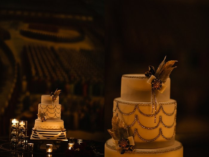 Gatsby Inspired wedding cake