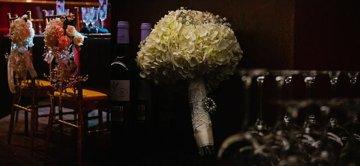 Great Gatsby Inspired wedding flowers
