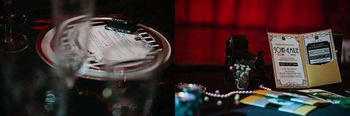 Great Gatsby Inspired wedding stationery.