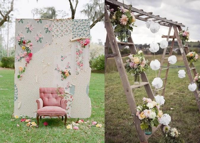 Reclaimed wedding arch