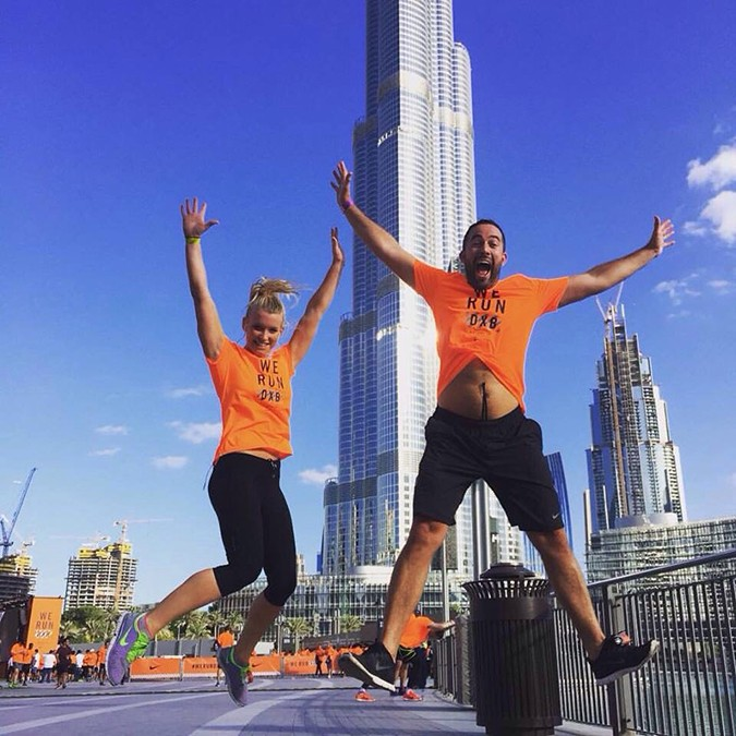 Anna and Tom Burj jump