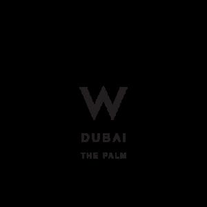 W Dubai The Palm Black Logo