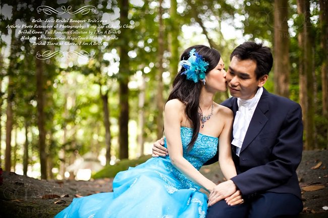 Blue wedding gown_weng Yap & Jackie Chan