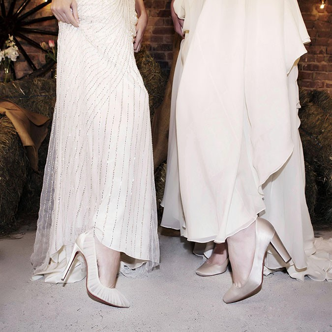 Christian Louboutin Shoes Accompany Jenny Packham Naeem Khan