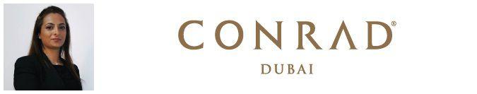 Above: Linda Mwaffak, director of groups, conferences and events at Conrad Dubai