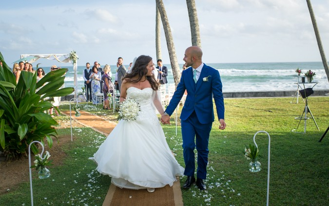 A Beach front destination wedding in Sri Lanka