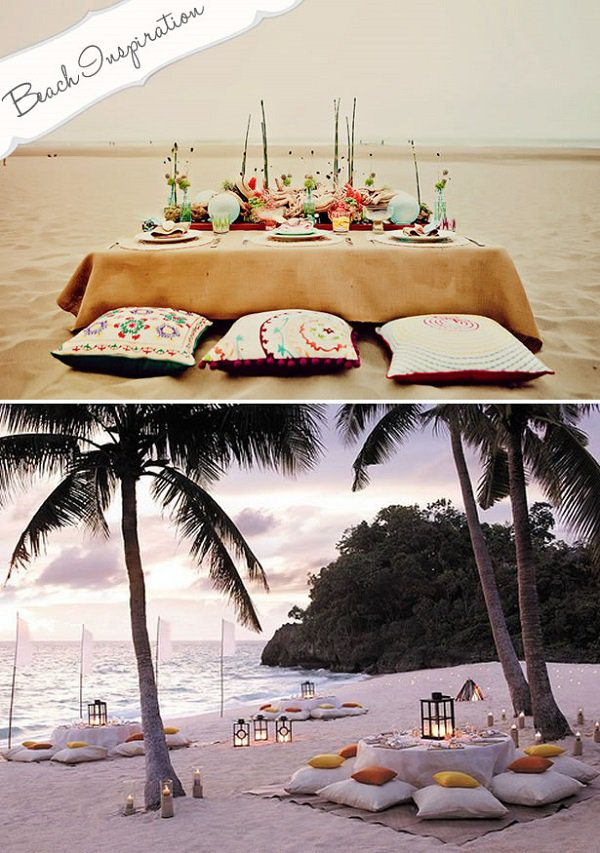 Above: Take advantage of the UAE's many beautiful beaches when planning you rehearsal dinner. Image source: