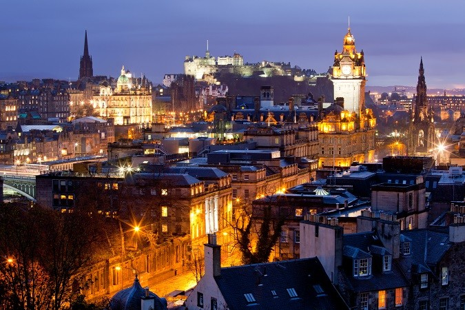 Edinburgh Skylines building and castle Scotland