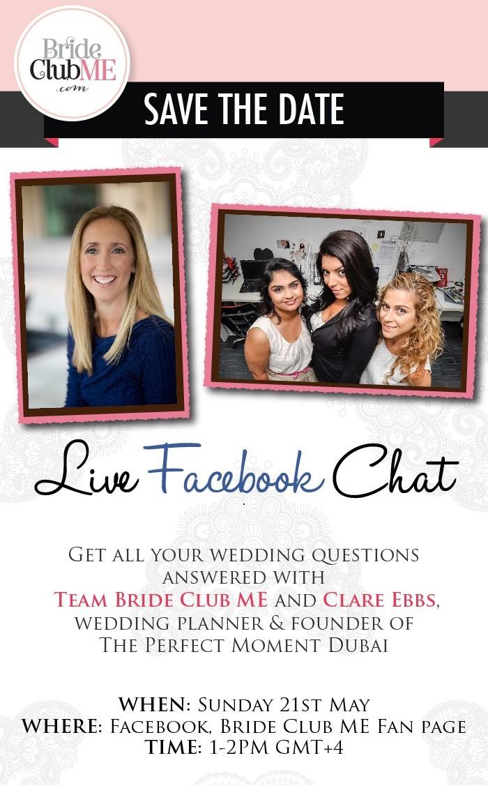 Live Face Book Chat - Bride Club ME