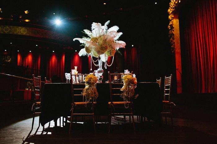 Great Gatsby Inspired wedding flowers