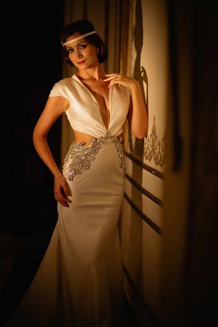 Great Gatsby Inspired wedding wedding gown
