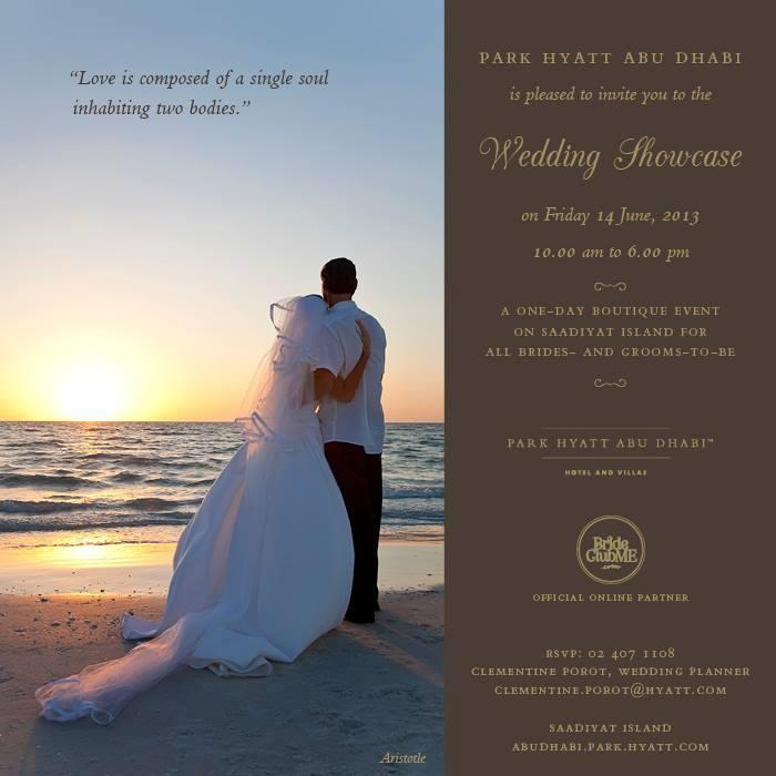 Park Hyatt Abu Dhabi wedding showcase