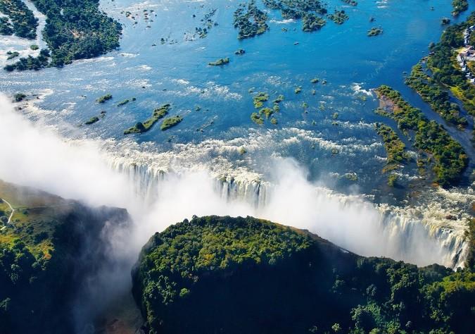 Zambezi river and Victoria Falls