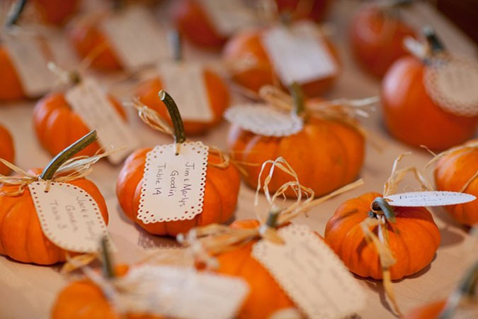 The Big Fat Indian Weddingpumpkin-seating-names-trendybride