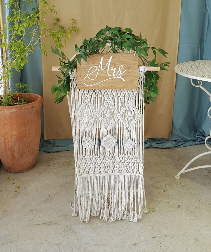 Turquoise Boutique Studio Macrame Chair Backing 3