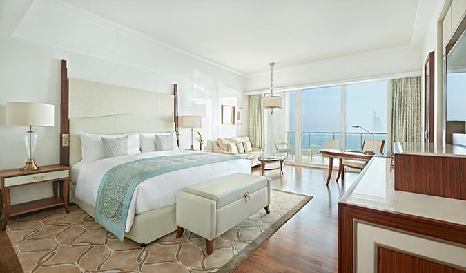 Waldorf Astoria Dubai May 2014 Bedroom King Deluxe Skyline View