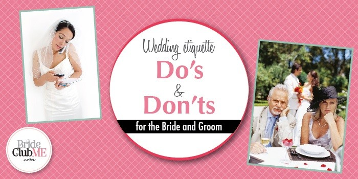 Wedding Etiquette for Bride and Groom