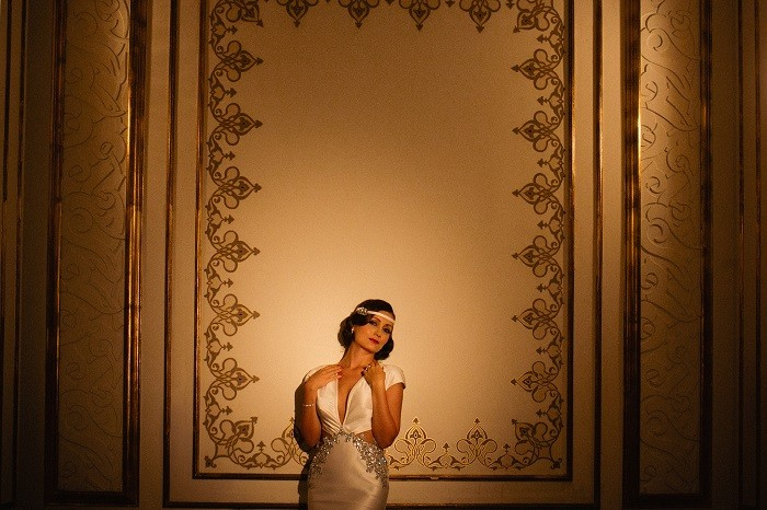 Gatsby inspired  wedding dress