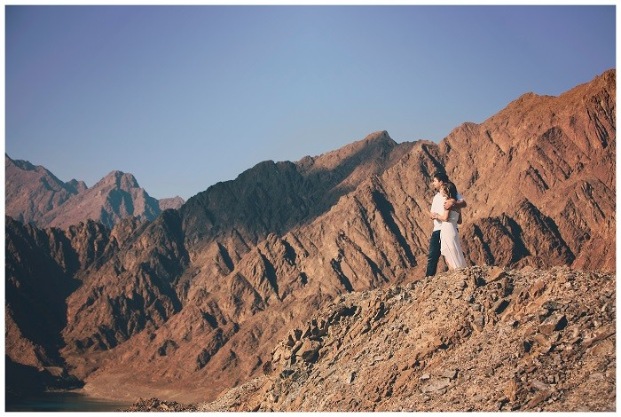 An Engagement Shoot: Hatta Mountains, featured on Bride Club ME