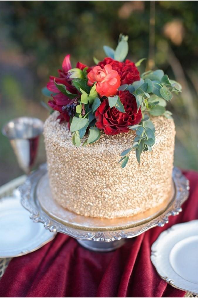 marsala wedding cake