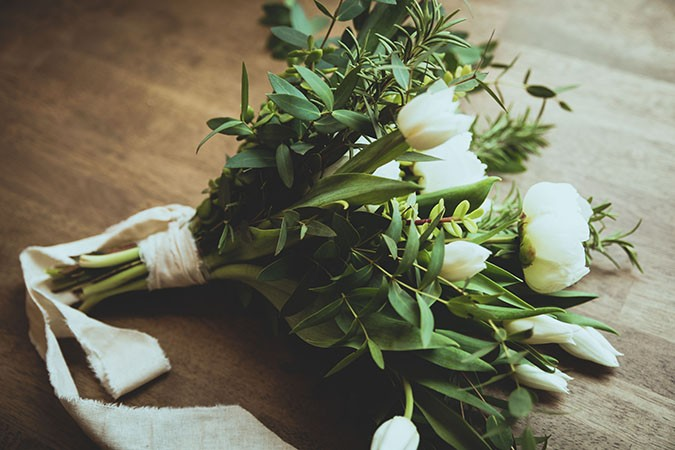 green sage minimalistic styled shoot