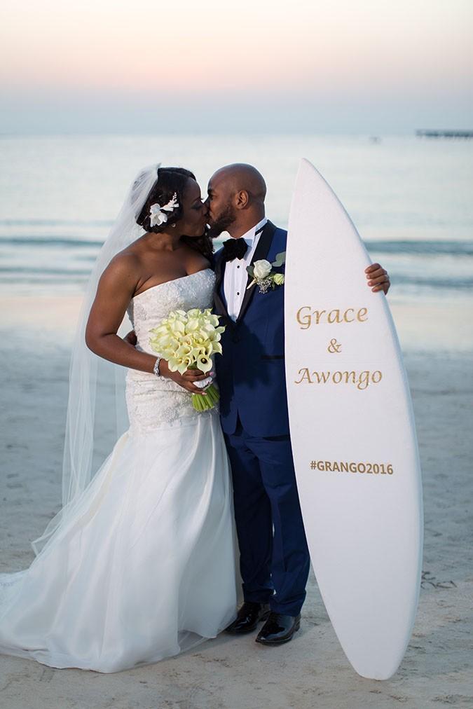 Nigerian destination wedding Dubai beach