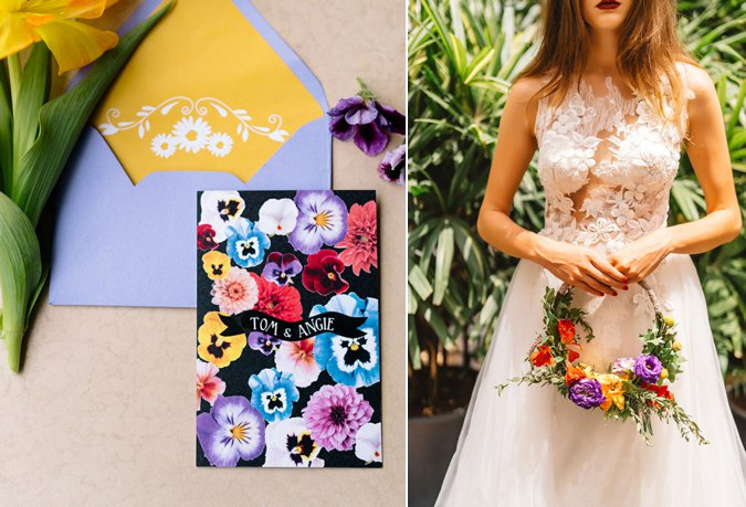 Destination Tropical With A Hint Of Funk: A Styled Shoot By Cloud 9 Weddings & Events With Prêt à Papier Invitations & Stationery