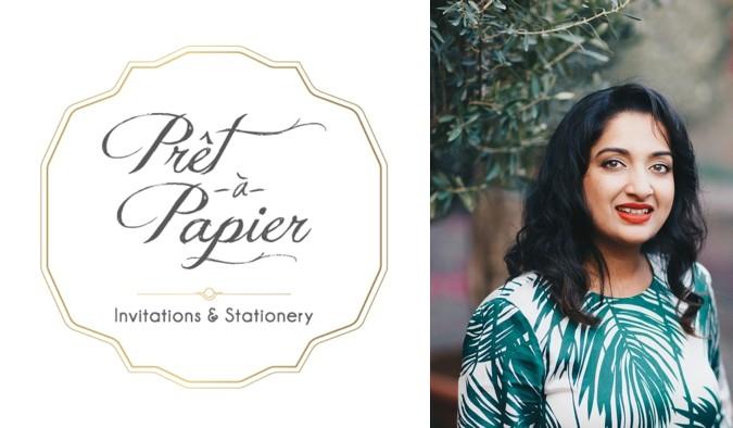 Above: Reesha Almeida Coutinho, Founder and Creative Director of Prêt à Papier Invitations & Stationery.