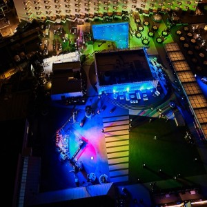 Radisson Blu Deira Creek Outside Wedding Setup