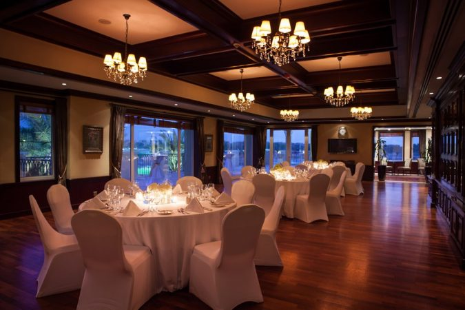 ballroom or outdoor wedding