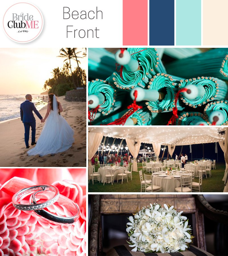 Wedding Colour Scheme { Beach Front }