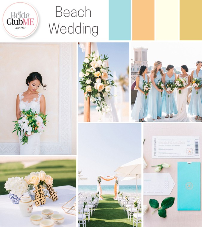 Wedding Colour Scheme { Beach Wedding }