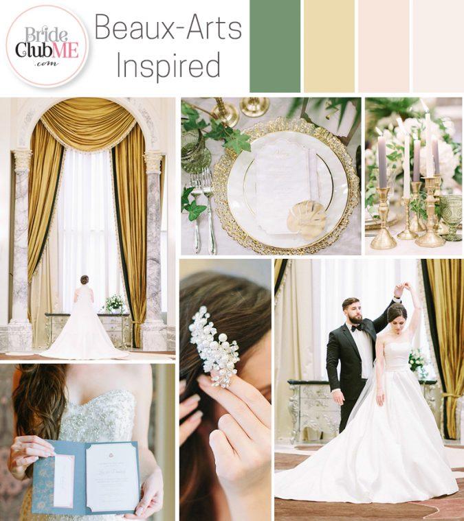 opulent wedding colour scheme