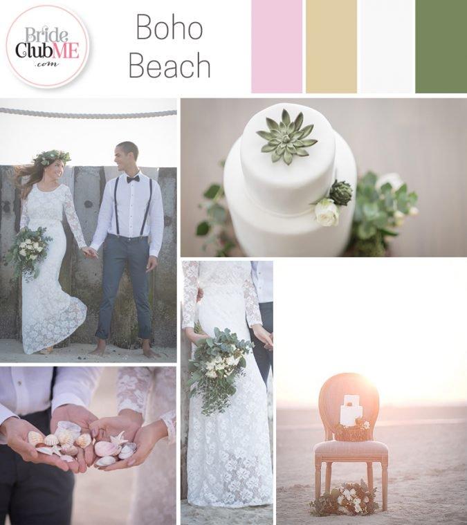 Wedding Colour Scheme { Bohemian Beach }