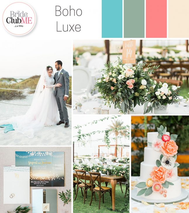 boho luxe wedding colour scheme
