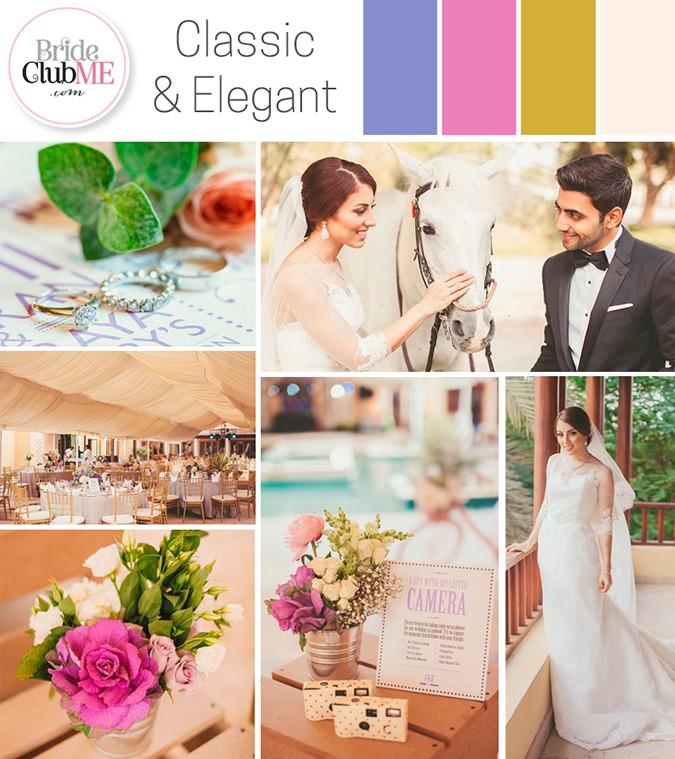 classic and elegant wedding colour scheme