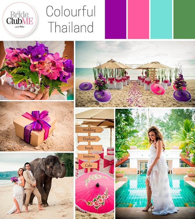 thai inspired wedding colour scheme