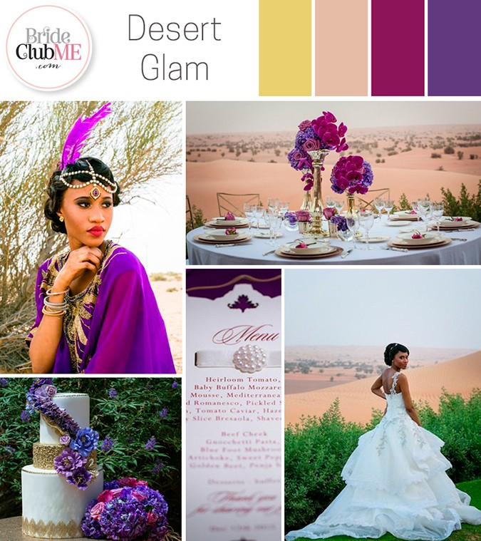 Wedding Colour Scheme { Desert Glam }
