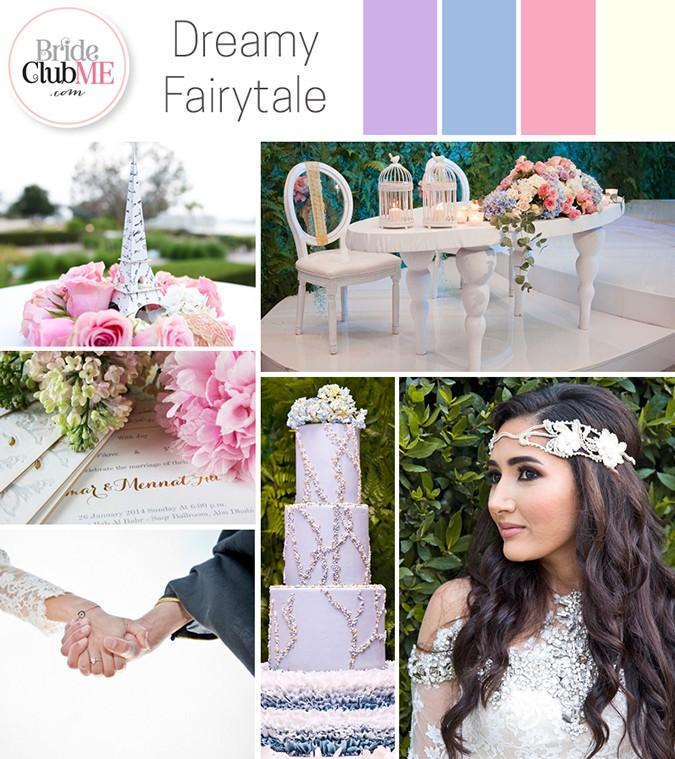 dreamy fairytale wedding colour scheme